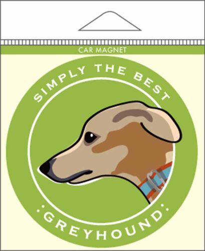"Greyhound Car Magnet 4x4/"""