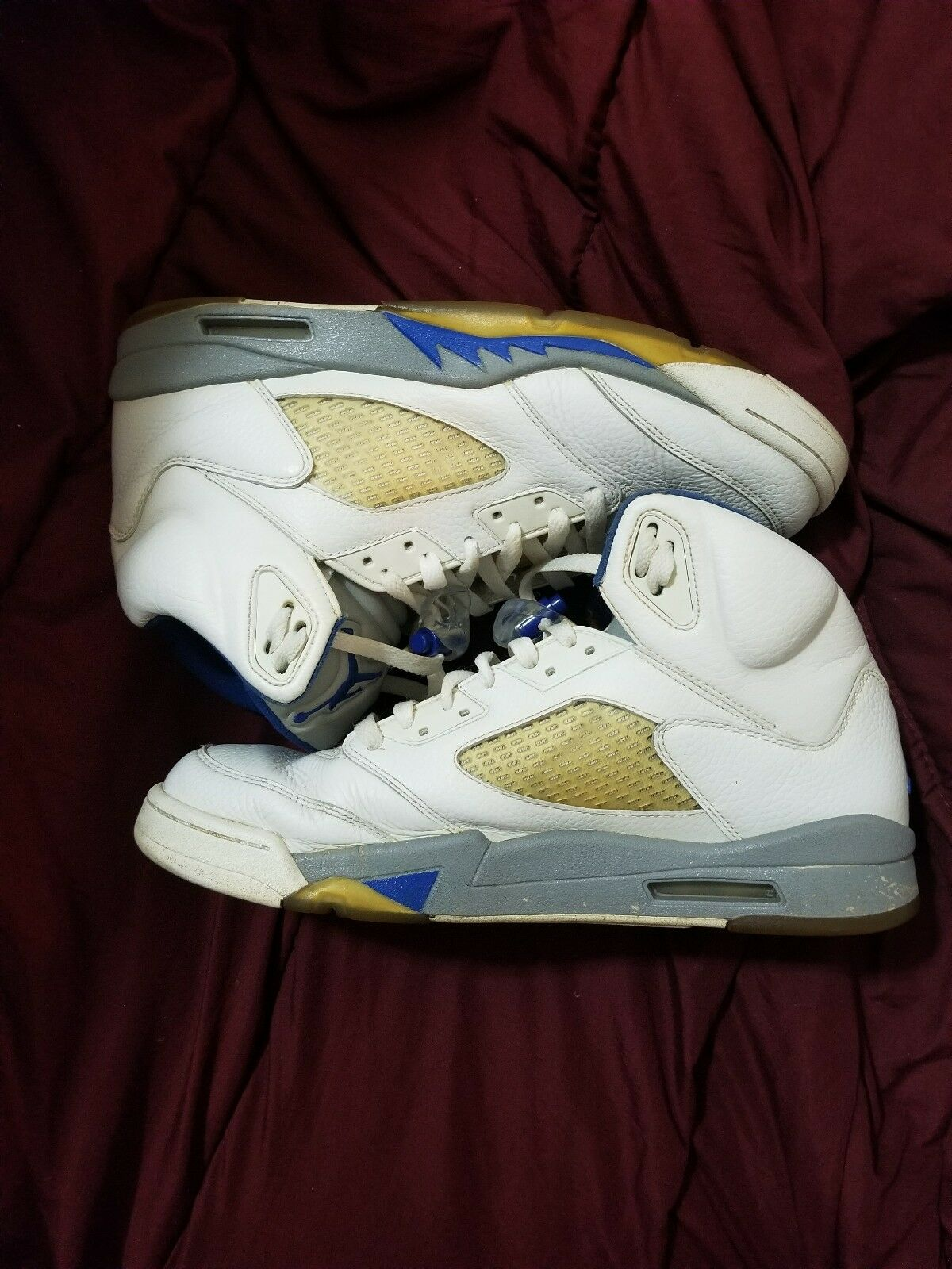 Jordan Retro 5 Stealth Grey Blue Comfortable Casual wild