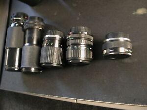 SLR-Lens-lot-of-5-Zoom-Canon-FD-Sakar-Vivitar-Quantaray