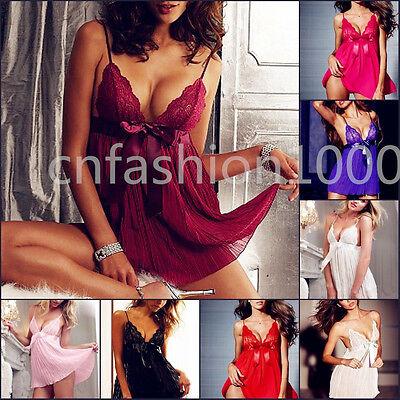 Plus Size Womens Lace Lingerie Sleepwear Nightwear Babydoll Wedding Dress M-2XL