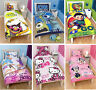 Kids Character Disney Single Double Duvet Covers Children Bedding Set New
