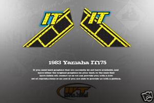 YAMAHA 1983 IT175 WICKED TOUGH DECAL GRAPHIC KIT