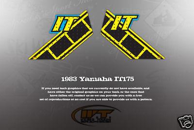 VINTAGE LIKE NOS 1983 YAMAHA IT175 TANK GRAPHICS