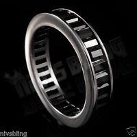 18k Black Gold Baguette Cut Cz Womens Eternity Wedding Unisex Band Promise Ring