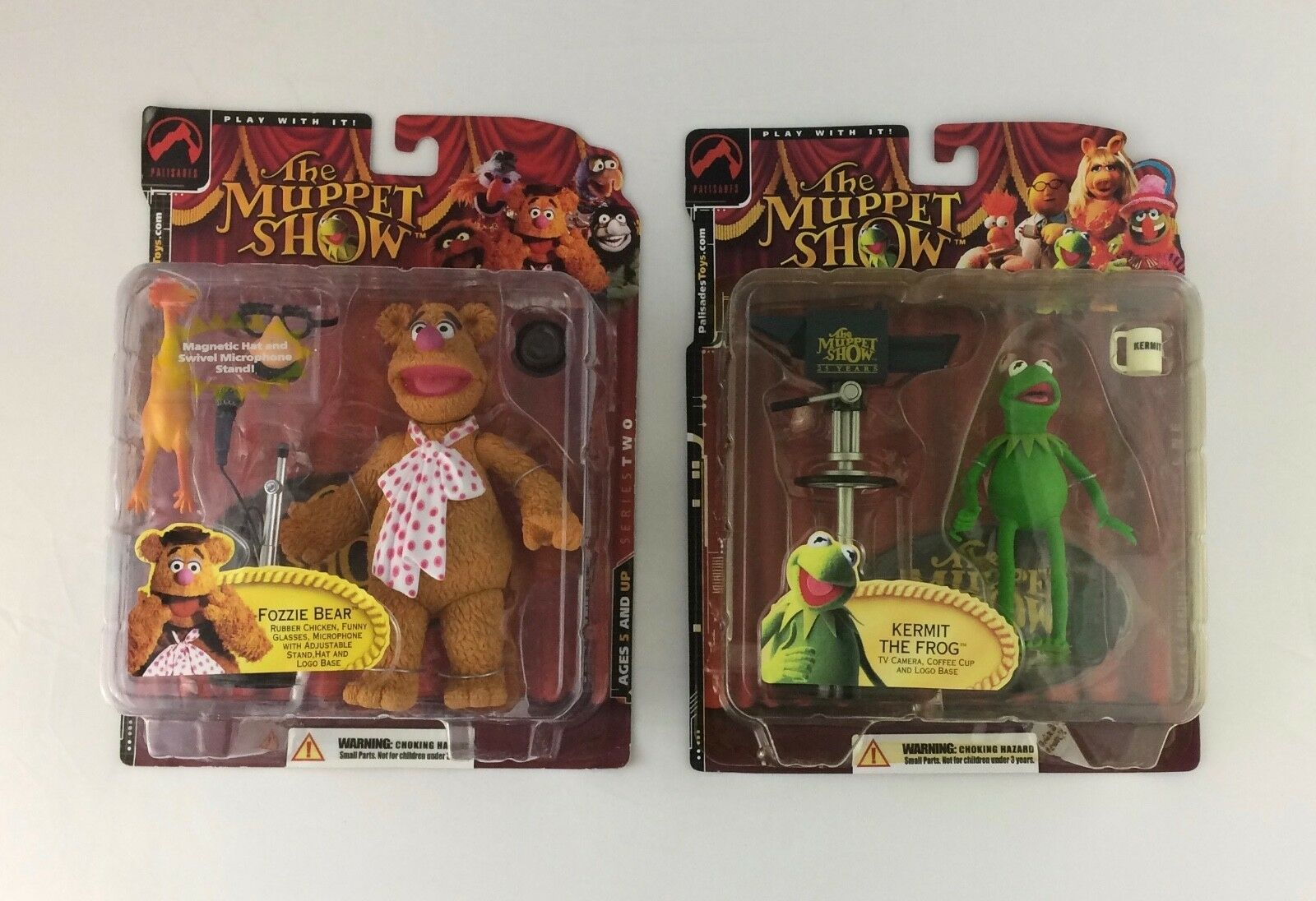 The MUPPET SHOW FOZZIE BEAR BEAR BEAR AND KERMIT THE FROG BY PALISADES TOYS AWESOME  f98feb