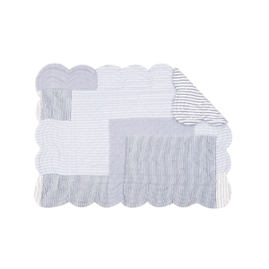 Blue-amp-White-Stripes-Ticking-Quilted-Reversible-Placemat-by-C-amp-F-Asher