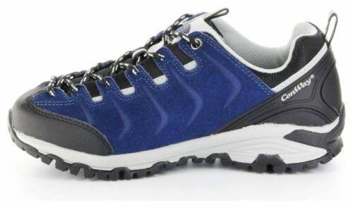 ConWay Sportschuhe blau Schnürsenkel Herren Outdoor Trekking Schuhe Denver blue