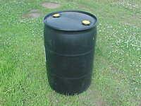 55 gallon Black Drum Plastic Water RAIN Barrels drum drums container barrel