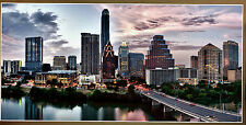 "Austin Skyline GIANT PANORAMA 50"" x 24"" city scene Texas bars college"