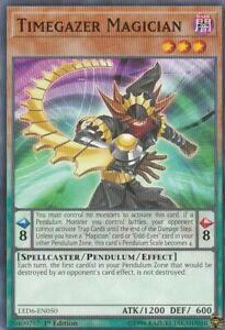 YUGIOH-CARD-1-X-TIMEGAZER-MAGICIAN-LED6-EN050-1ST-EDITION