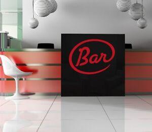 Das Bild Wird Geladen Bar Wandtattoo Wandwort Fuer Hausbar Wohnzimmer  Lounge Hausbar