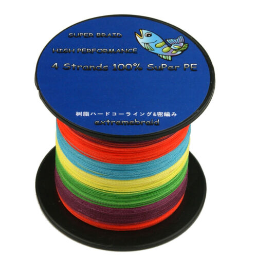 Multi Color 100/% PE 4Plys 100-1000M 6-300LB Fishing Line