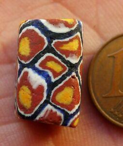 Pearl-Millefiori-Glass-Antique-Murano-Mali-African-Venetian-Trade-Bead-U6