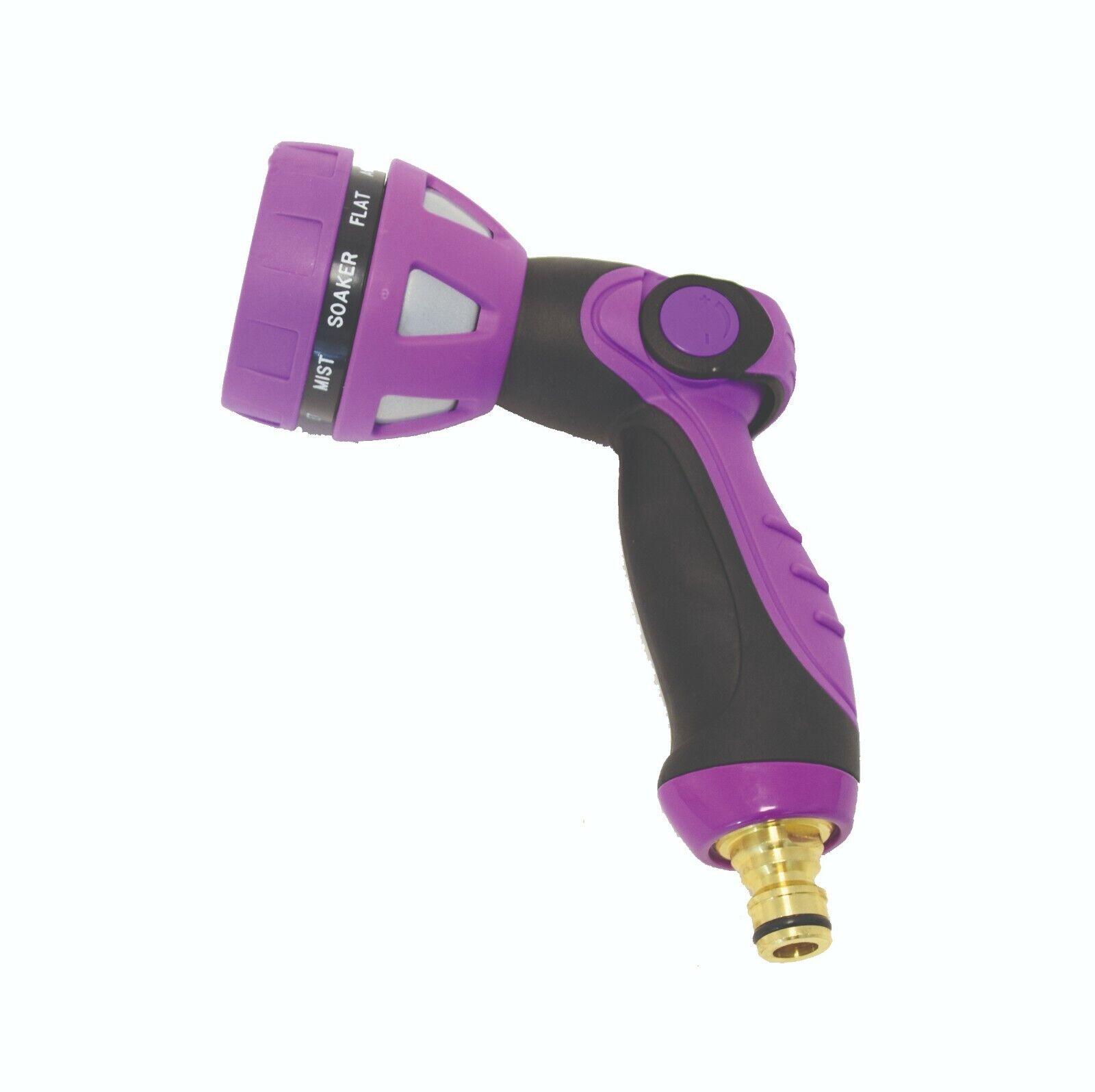 Spear & Jackson Multi Function 9 Flow Watering Spray Gun Purple