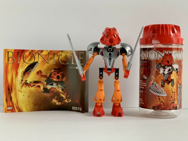 LEGO 8572 Bionicle Toa Nuva Tahu Nuva 100% Complete w/ Canister & Manual *2002*