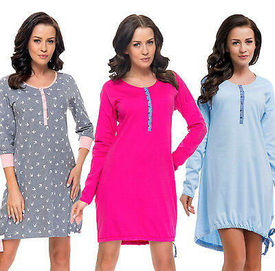 100% Wahr Dn Nursing 100% Cotton Nightdress Nightshirt 8 10 12 14 Breastfeeding 5070