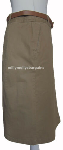 New Womens Marks /& Spencer Classic Brown Beige Skirt Size 22 16 14 12 RRP £28