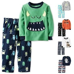 Details about NWT Infant Boys CARTER S 2-Pc Pajamas Sets Fleece Thermal  Monsters Space Moose b32b6e377