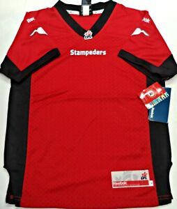 new concept acb6f 0dae8 Details about SMALL-NWT REEBOK AUTHENTIC CFL LICENSED CALGARY STAMPEDERS  YOUTH JERSEY MSRP 80