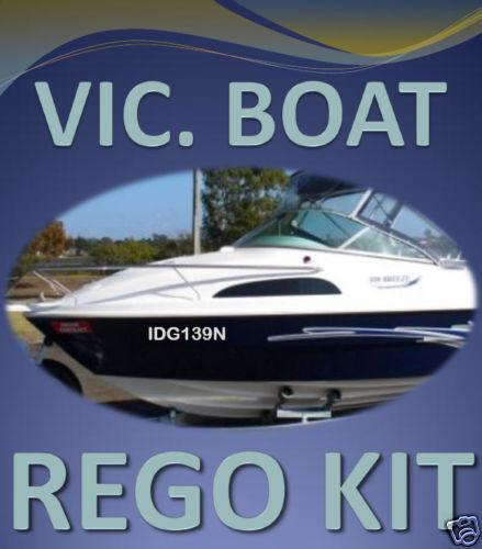 VIC BOAT REGO DECAL STICKER KIT Custom Cast Vinyl Registration Numbers