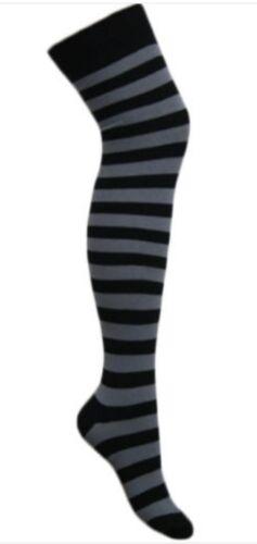 Onorevoli sopra il ginocchio bambine a righe moda donna coscia alta calze taglia 4-6.5
