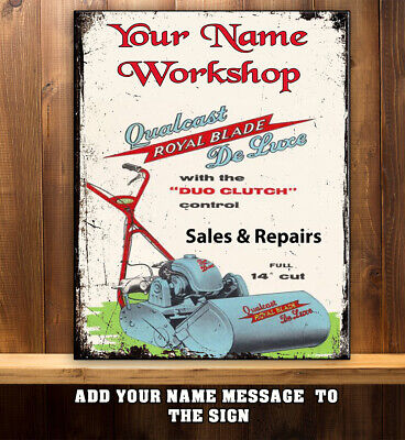 RANSOMES LAWN MOWERS METAL SIGN 8x10in pub bar shop cafe art coffee diner shed