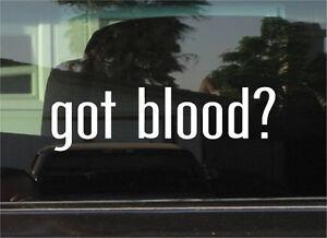 Donor Donation Funny Decal Sticker Car Cute Vinyl got blood