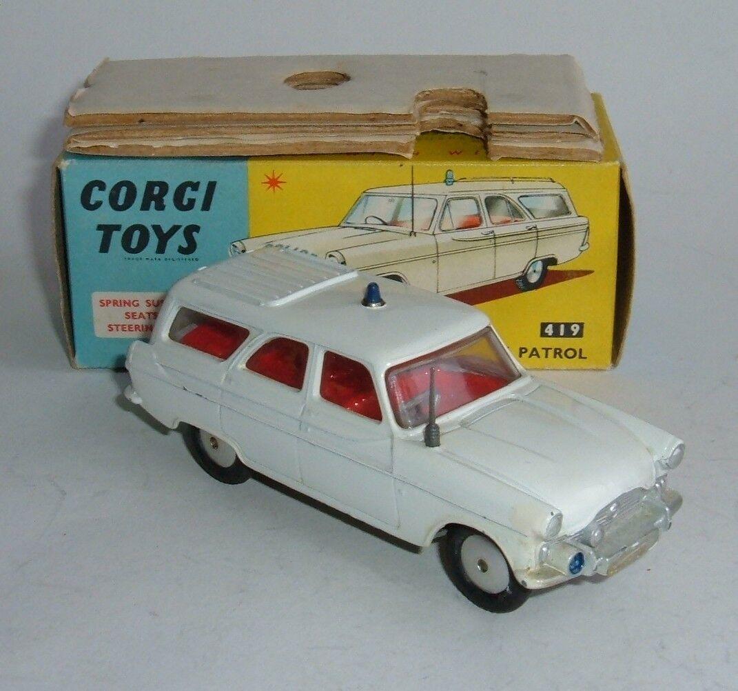 CORGI TOYS no 419, Ford Zephyr Motorway Patrol-sans étiquettes, - SUPERBE Near Comme neuf