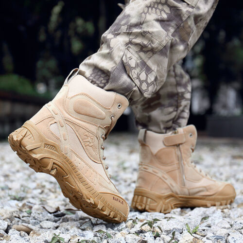 Military Tactical Ankle Boots Work Desert Shoes Hunting Combat Army Hiking Shoes