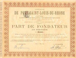 Compagnie-de-Port-Saint-Louis-Du-Rhone-SA-parte-de-fundador-Paris-1880