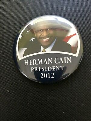 """Pin01 Presidential Hopeful Campaign Button 2012 Herman Cain 2-1//4/"""" // R"""