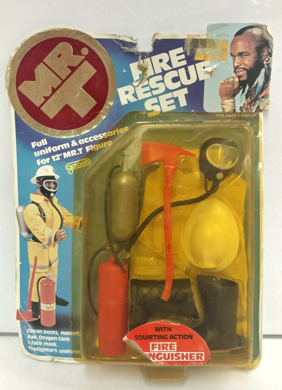 NEW A-Team Fire Rescue Set Mr. T Toy Accessories Galoob RARE for 12 Figure