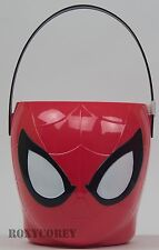 Easter Halloween Marvel Spiderman Figural Plastic Basket + 3 Treat Containers