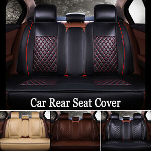 Luxury Breathable Front Seat Cover PU Leather Car Seat Cover Cushions Black Red