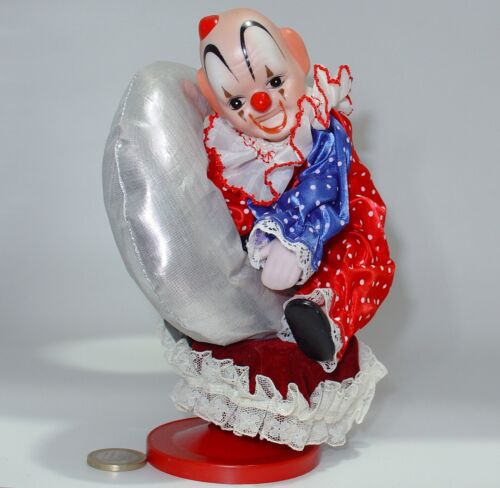Spieldosen carillon Clown Porzellan VINTAGE ANNI 80 Clown Music Box Wind-Up & Drehen