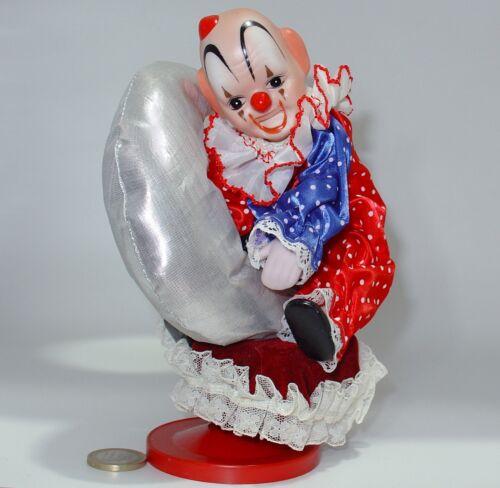 Spieldosen carillon Clown Porzellan VINTAGE ANNI 80 Clown Music Box Wind-Up & Drehen
