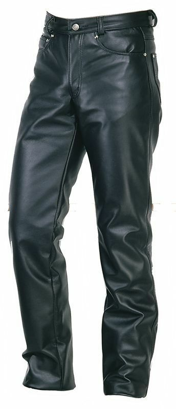 Genuine Leather  Slim Fit Real Lambskin Classic Style Men Leather Pant -Sp-06