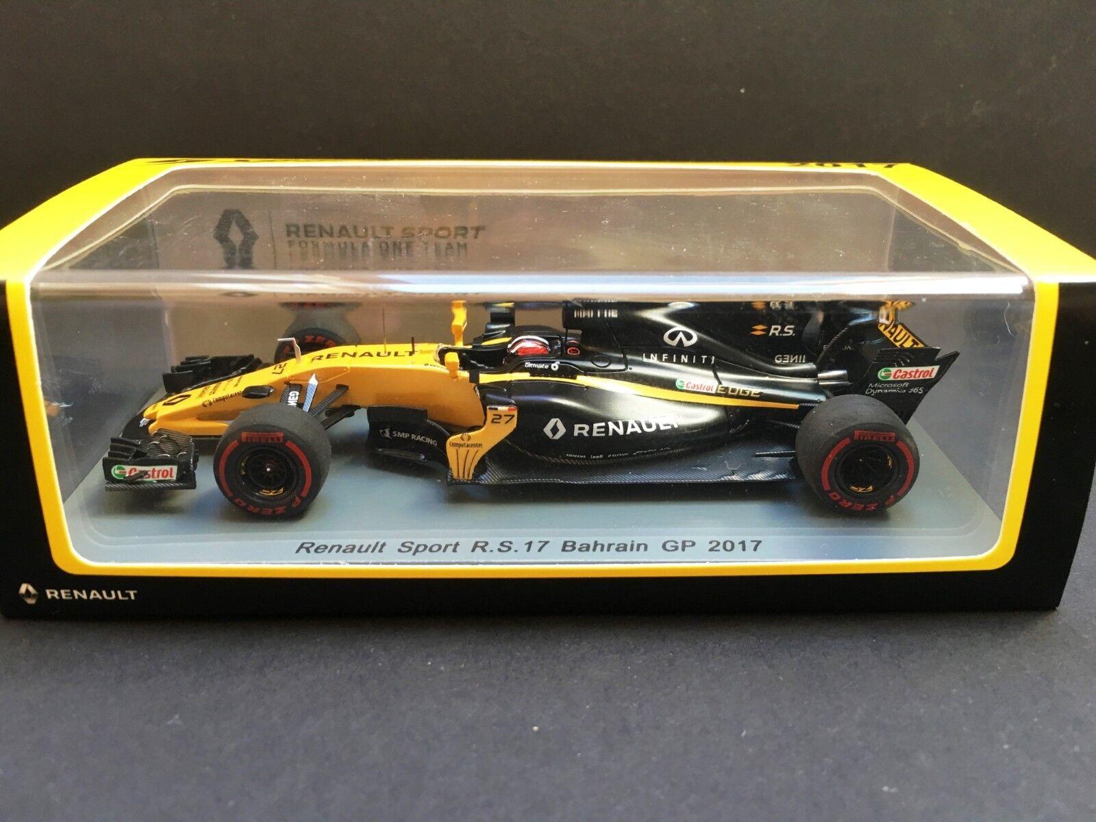 Spark - Nico Hulkenberg - Renault - R.S.17 - 2017 - 1 43 - Bahrain GP - Rare