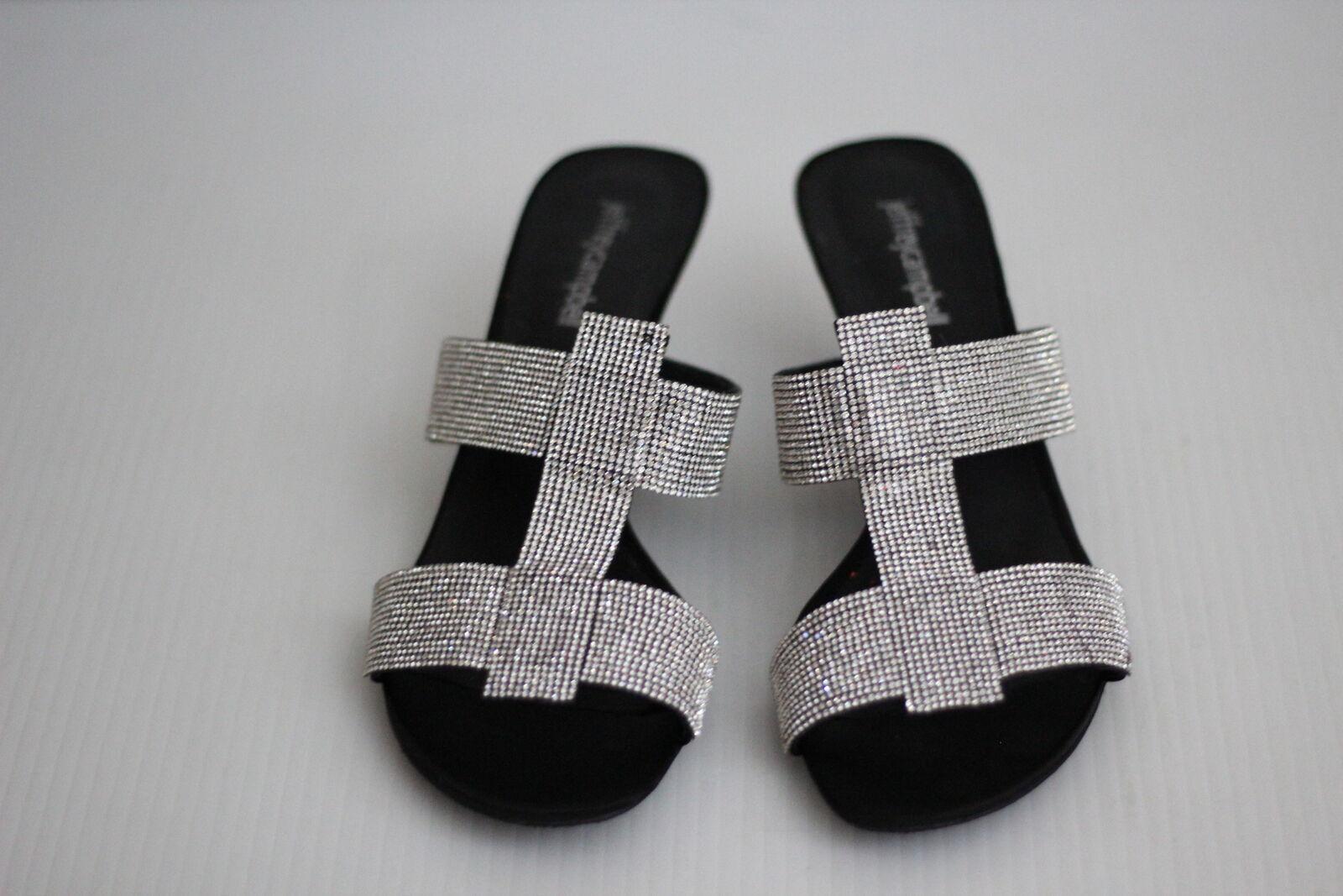 Jeffrey Campbell TARTINE 'adornado 'adornado 'adornado Cristal Estrás Sandalia-Negro - 9 M  ofrecemos varias marcas famosas