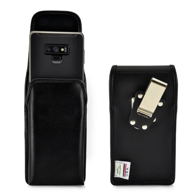 sports shoes 86903 2340b Samsung Note 8 Belt Case Turtleback Vertical Holster Black Leather Pouch  With