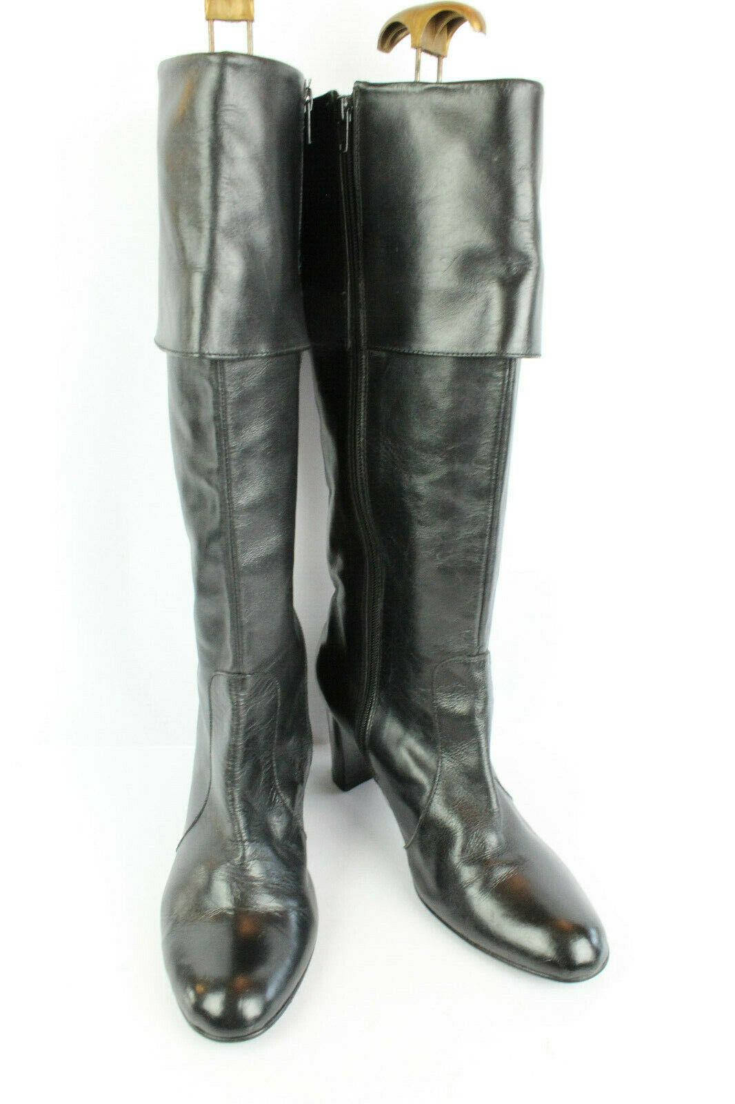 Boots TEX Black Leather T 41   UK 7,5 VERY GOOD CONDITION