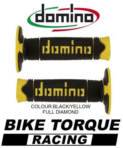 Honda CRF250M Domino Full Diamond Grips Black Yellow
