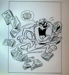 Tasmanian Devil & The Flash Original Art McDonald's Happy Meal 1991 6 Pieces
