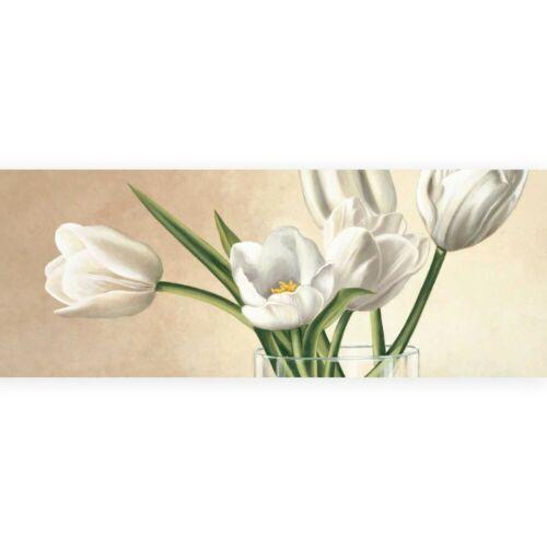 Stampa su Tela su Carta Poster o Quadro Barberini Eva Vaso con tulipani bianchi