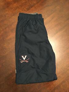 NWT Virginia UVA Cavaliers Football Team Issued Nike Blue Warmup Pants Small
