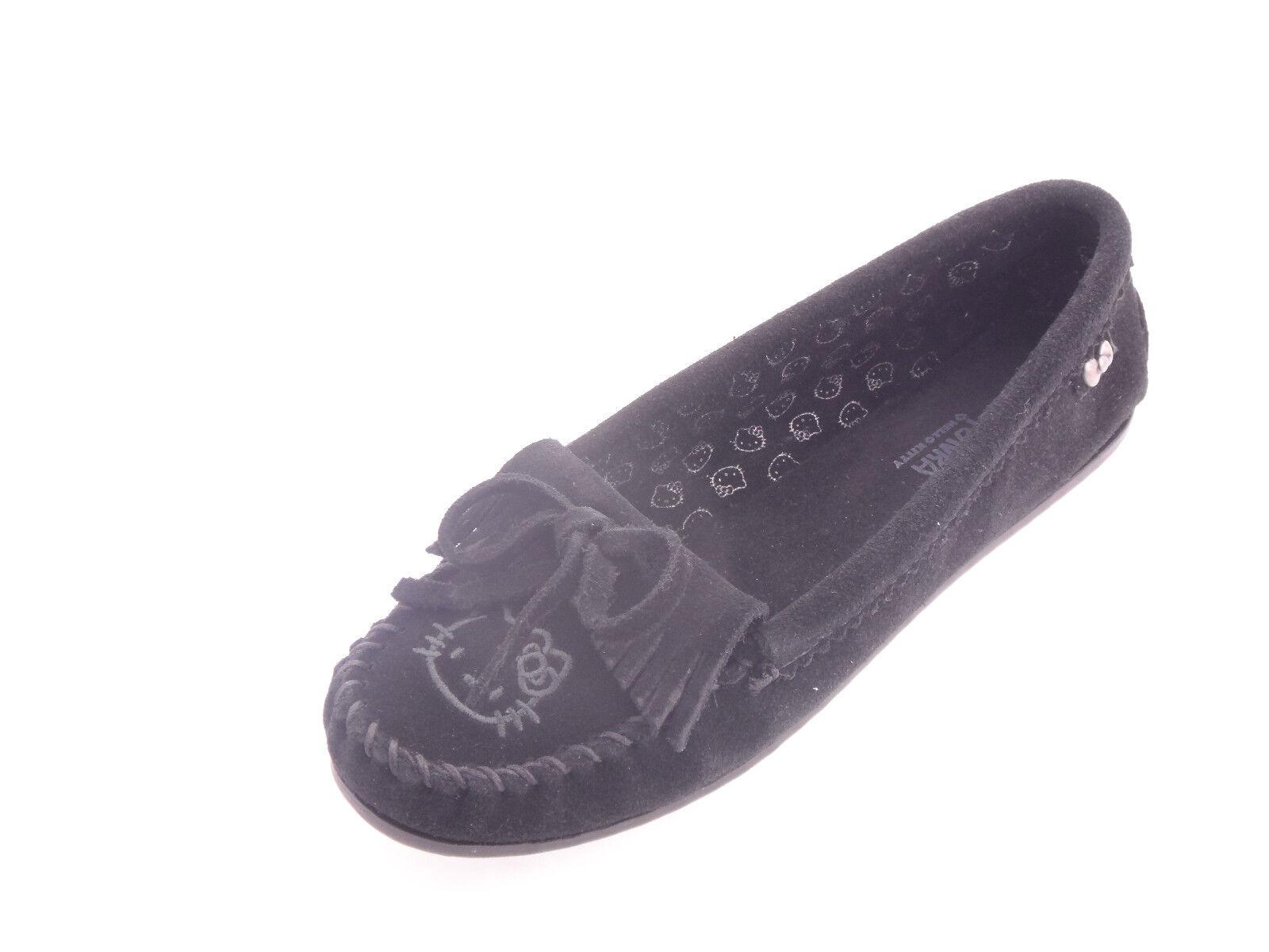 ultimi stili Minnetonka Hello Kitty Kilty  Suede Donna  scarpe scarpe scarpe nero 9M  nelle promozioni dello stadio