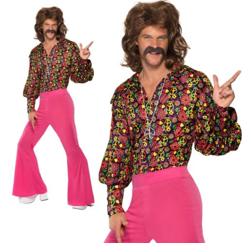 Adult Mens 60/'s Psychedelic CND Suit Groovy Retro 60s Fancy Dress Costume New