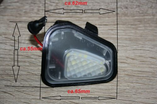 2x LED SMD Xenon Weiß Umfeldbeleuchtung Aussenspiegel VW Passat B7 Variant A553
