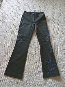 Cache-Embellished-Black-Pant-Very-Fancy-Bugle-Bead-Iridescent-Designs-NWT-2