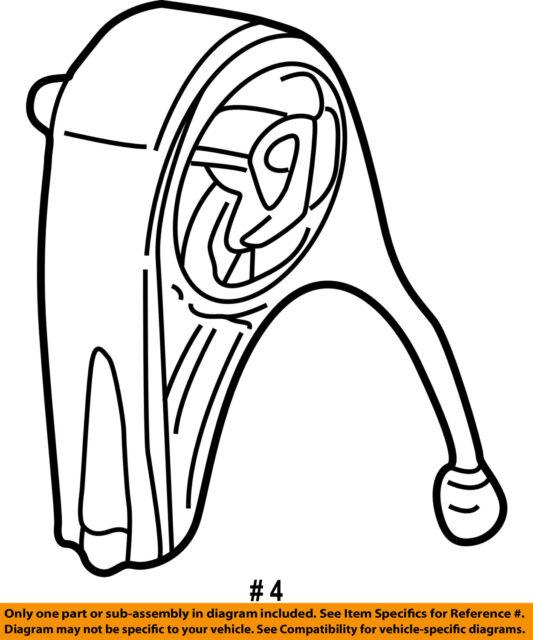Chrysler Oem Engine Torque Strut Mount 4593337ab For Sale Online